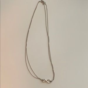 "Tiffany Infinity Sterling Silver Pendant-18"" Chain"